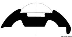 Base per profili PVC bianco 40 mm