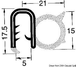 Profilo PVC per bordare nero 50 m