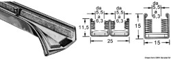 Canalina inox semplice 15 x 16 mm