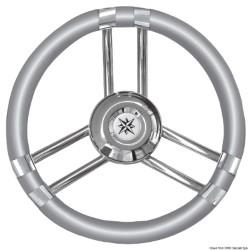 Volante C inox/grigio 350 mm