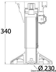 Supporto sedile Waverider con amm. 340-450 mm