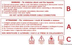 Stiker adesivo con avvertenze