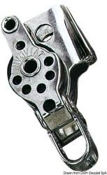 Bozzello inox 2 pulegge arricavo strozzatore 17x5