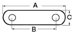 Strozzascotte inox 82x66x18 mm
