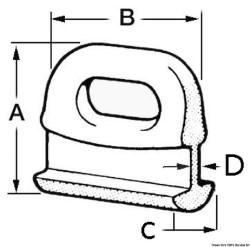 Cursori nylon curvi 14 mm