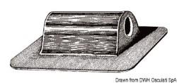 Passacorda gommoni nero 10mm